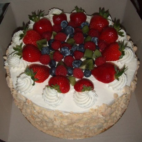 Fresh Fruit Angle Food Cake