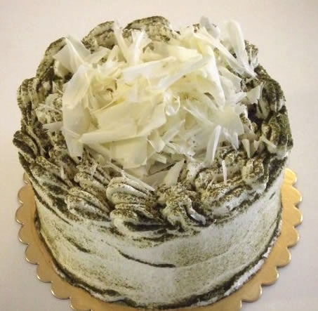 White Chocolate Green Tea Cake